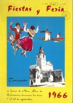 Programa de fiestas de Tarancón (Cuenca) en honor a la Virgen de Riánsares del 7 al 13 de septiembre de 1966