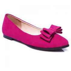 28.61$  Watch here - http://diygj.justgood.pw/go.php?t=173925715 - Graceful Bowknot and Flock Design Women's Flat Shoes 28.61$