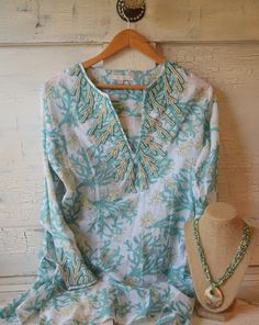 Beaded Beach Cover-up with Necklace
