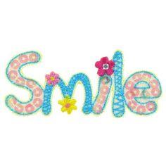 Smile Iron-On Applique