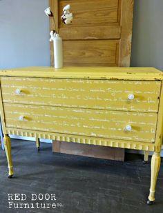 Mustard Seed Milk Paint Dresser #milkpaint