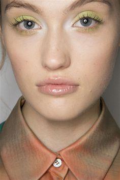 Costello Tagliapietra beauty: green eyes #NYFW