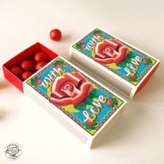 SMALL Matchbox GIFT BOXES - ROSE Tiny DIY giftboxes made of matchboxes. For beautiful matchbox-inspired products (such as notebooks and DIY gift boxes) visit www. Diy Gift Box, Gift Boxes, Paper Toys, Paper Crafts, Customized Gifts, Personalized Gifts, Funky Gifts, Box Roses, Corporate Gifts