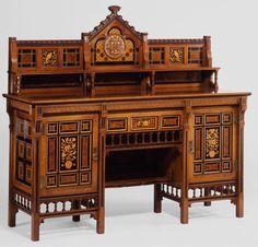 Bruce Talbert aesthetic cabinet, c. Victorian Furniture, Victorian Art, Antique Furniture, Furniture Styles, Furniture Decor, Decoration, Art Decor, Home Decor, 1800s Home