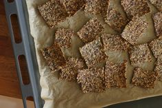 Happy Crackers [cooked brown rice, cooked quinoa, unhulled sesame seeds, flax seeds, tamato, olive oil, water]