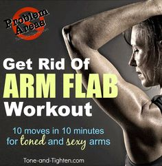 My gf always complaints about this on her body. Tone & Tighten: How to get rid of arm flab - At-home arm toning workout - Problem Areas Series Best Dumbbell Exercises, Arm Toning Exercises, Dumbbell Workout, Arm Workouts, Fitness Diet, Fitness Motivation, Health Fitness, Arm Flab, Thunder Thighs