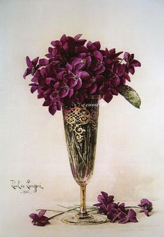 Print FREE SHIP Victorian Violets in a by VictorianRosePrints, $11.99