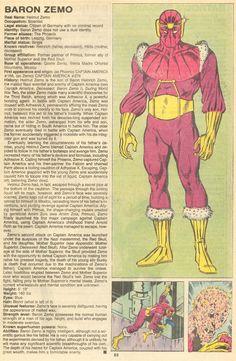 Baron Zemo (Capitan America) Marvel Comics Superheroes, Hq Marvel, Marvel Comic Universe, Comics Universe, Marvel Heroes, Marvel Comic Character, Comic Book Characters, Marvel Characters, Comic Books