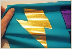 """""""Stretch Applique Tutorial"""" the tutorial is set up for superhero and cosplay costumes, but still good tips for other costumes as well. (And I do love that metallic spandex!)"""