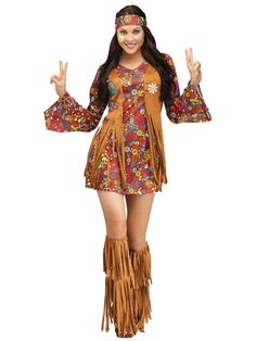 Check out Sexy Peace/Love Hippie Costume - 60s Halloween Costumes from Costume Discounters