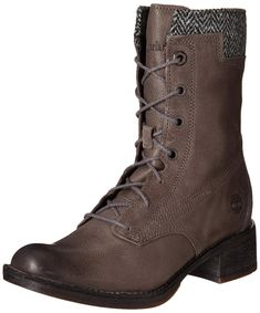 Timberland Womens Whittemore LaceUp Boot Dark Grey Woodlands/Grey Harris Tweed Wool 9.5 M US *** Click image to review more details. (This is an affiliate link) #TimberlandShoes