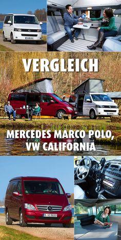 Sie sind die Crème de la Crème der Kompakt-Campingbusse: #VW California Comfortline und #Mercedes Viano Marco Polo fahren als Werksbusse und Verkaufsschlager in einer eigenen Liga. Doch welcher kann mehr? #Campingbus