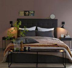 """Wandfarbe Taupe im Schlafzimmer. Infos und workshop """"Sei dein eigener Interior Designer """" unter www.farbefreudeleben.de"""