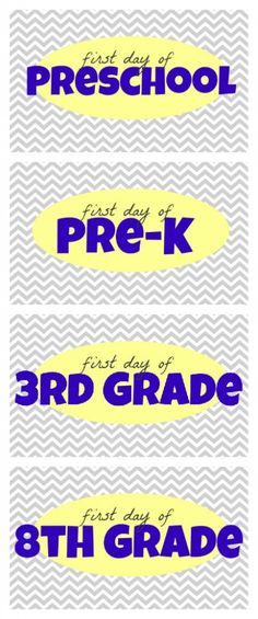 "Free ""First Day of School"" Printables from I Can Teach My Child"