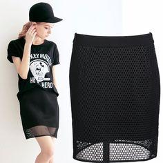 Top Quality New 2014 Summer Fashion Double Layer Knee-length Net Skirt Women Brand Designer Hollow Out Skirt € 19,88
