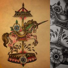 Image result for carousel tattoo