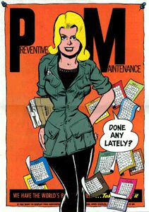 Preventative Maintenance - An Army publication on preventive maintenance would hardly be a common choice when deciding what materials to digitize and make available to a wider audience. But publications aren't filled with the incomparable art work of the late Will Eisner (1917-2005).
