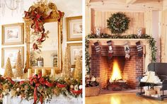 Beautiful Ideas For Christmas Fireplaces Decor