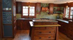 Home Interior Design — Craftsman style kitchen in PA © Gary Arthurs. Craftsman Tile, Craftsman Kitchen, Farmhouse Style Kitchen, Modern Farmhouse Kitchens, Country Kitchen, Bungalow Kitchen, Modern Craftsman, Rustic Kitchen, Craftsman Houses