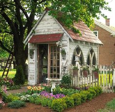 salvaged wood shed - this is one of many.
