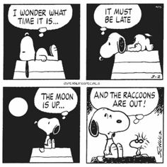 First Appearance: March 2nd, 1979 #peanutsspecials #ps #pnts #schulz #snoopy #woodstock #wonder #time #late #moon #up #raccoons #out www.peanutsspecials.com