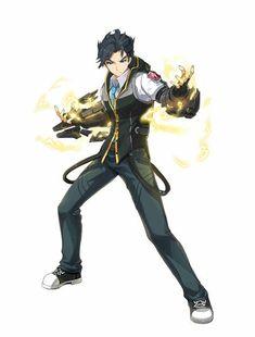 Male: elementaler/ runner my character, character reference, male character design, character Character Design Cartoon, Fantasy Character Design, Character Design Inspiration, Game Character, Character Concept, Concept Art, Manga Anime, Art Manga, Anime Guys