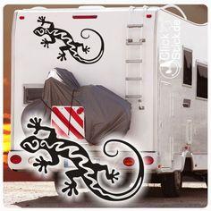 WoMo001 Gecko Echse Wohnmobil Aufkleber Wohnwagen Sticker