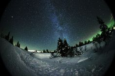 Milkyway as seen from Trysil,Norway