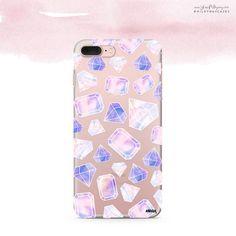 'Sky Diamonds' (@okitssteph x @milkywaycases) - Clear TPU Case Cover