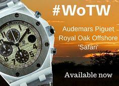 The outstanding Audemars Piguet Royal Oak Offshore Safari. Our #WoTW