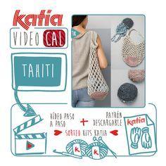 ¡Vamos a mover esos ganchillos! Porque vuelve el Katia VideoCAL Especial Verano con una práctica bolsa de red plegable hecha a ganchillo con Katia Tahiti. Aquí comienza un nuevo reto para realizar …