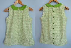 Tadpegs: Sorbetto Top With Peter Pan Collar