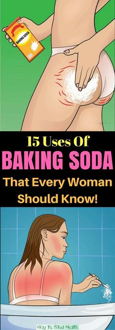 Every Woman Should Know These 15 Tricks With Baking Soda. Posted December 2017 by VG under Home Remedies , Most Popular . Health Remedies, Home Remedies, Natural Remedies, Health And Beauty, Health And Wellness, Health Fitness, Women's Health, Baking Soda Uses, Baking Soda For Acne