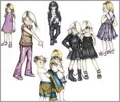 versace kids fashion line - Kids Sketches