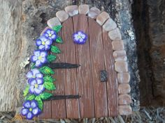 will make to order  Fairy door faux wood with by smalloldthings, $14.00