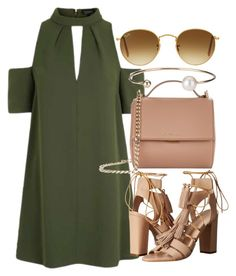 """""""Untitled #4335"""" by olivia-mr ❤ liked on Polyvore featuring Topshop, Loeffler Randall, Ray-Ban, Givenchy and Letters By Zoe"""