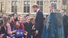 While arriving at Westminster Abbey, Prince Harry was told by girls of Francis Holland School he looked like singer Ed Sheeran.