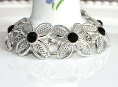 Vintage SARAH COVENTRY Black Beauty Bracelet by delightfuljewels,