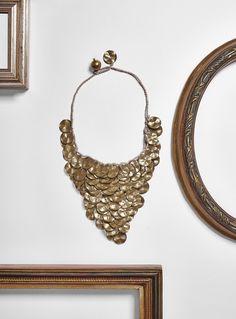 #loranikolova #bijoux&art #necklace #colors #art #madeinitaly #ethnochic #style  #golden #coins Coins, Bracelets, Gold, Jewelry, Art, Style, Art Background, Swag, Jewlery
