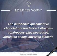 image drole - Les personnes qui aiment le chocolat...