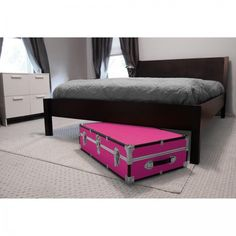 Under Bed Storage with Wheels and 2 Keys Included,Pink #MercuryLuggage