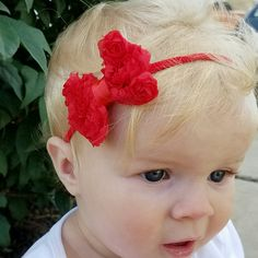 Super soft chiffon and nylon headbands are perfect for newborns, and so sweet!!