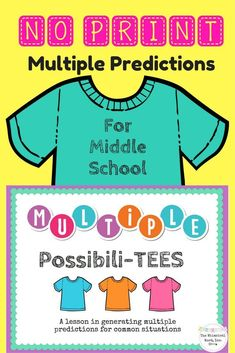 Looking for a way to target multiple predictions for common situations?  This NO PRINT activity is perfect for your middle-school students!