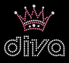 Rhinestone Transfers Direct - Diva Crown Pets Rhinestone Heat Transfer, $3.95 (http://www.rhinestonetransfersdirect.com/diva-crown-pets-rhinestone-heat-transfer/)