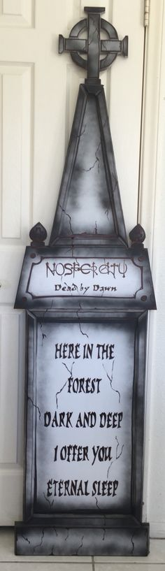 My own props- Halloween 2016- Cemetery