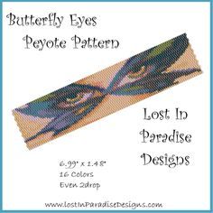 Butterfly Eyes Peyote Bracelet Pattern (Buy 2 get 1 Free)
