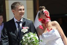 Throwing petals at the bride and groom seemed like a good idea. Throwing petals at the bride and groom seemed like a magical and romantic i...