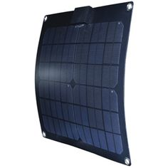 "15W (=3W overcast) solar panel from Westmarine.  Super durable.  14.5"" x 15"" x 1/8"", $120."