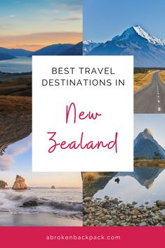 Planning a trip around New Zealand? Take a look at our tips and road-trip ideas so you can make the most of your travels. Read now or save for later! Via @abrokenbackpack  New Zealand travel tips | New Zealand travel itinerary | New Zealand bucketlist | New Zealand beautiful places | Best destinations in New Zealand | Where to go in New Zealand | Guide to New Zealand | NZ travel tips | Packing for New Zealand | New Zealand road trip | New Zealand itineraries