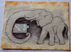 elephant envelope art